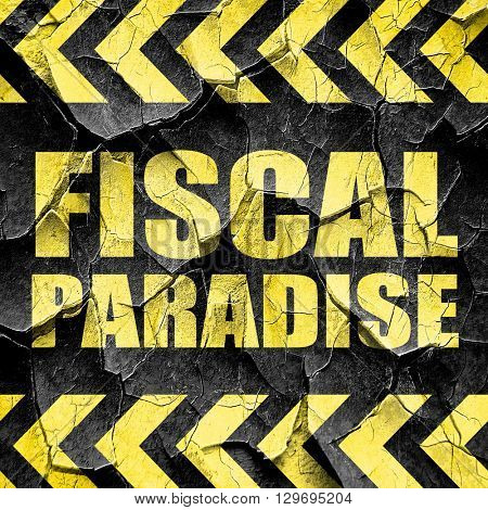 fiscal paradise, black and yellow rough hazard stripes