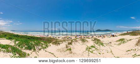 Panorama Of Campeche Beach In Florianopolis, Santa Catarina, Brazil.