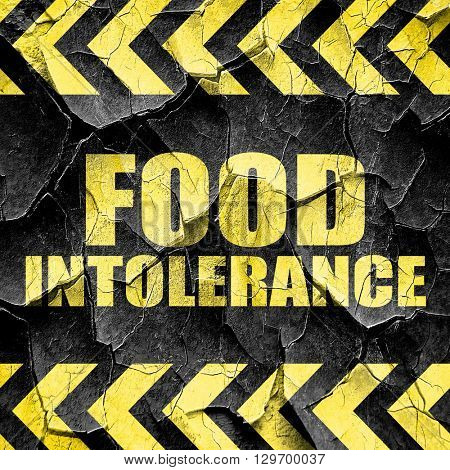 food intolerance, black and yellow rough hazard stripes