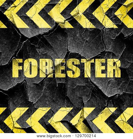 forester, black and yellow rough hazard stripes