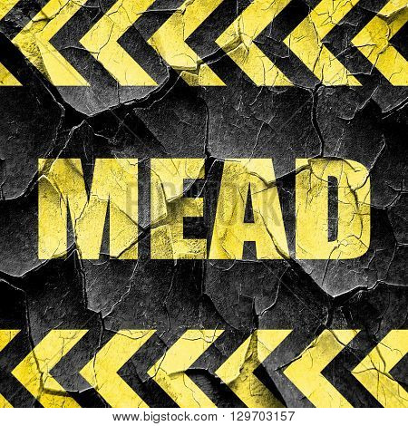 mead, black and yellow rough hazard stripes