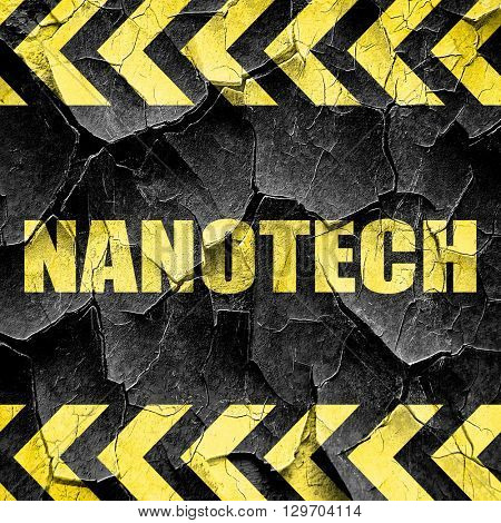 nanotech, black and yellow rough hazard stripes