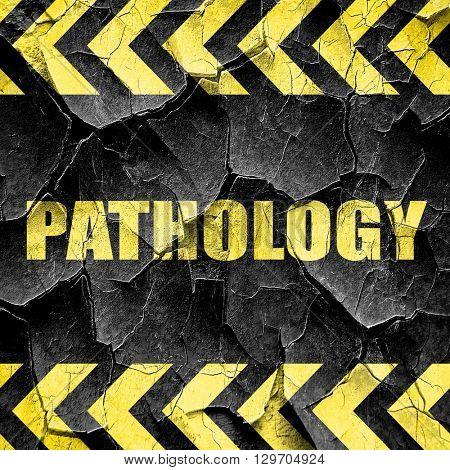pathology, black and yellow rough hazard stripes