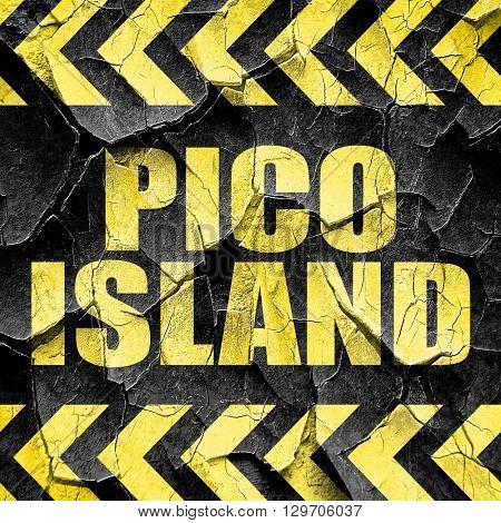 pico island, black and yellow rough hazard stripes