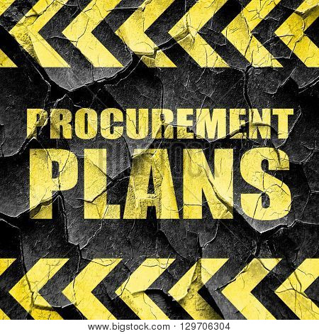 procurement plans, black and yellow rough hazard stripes