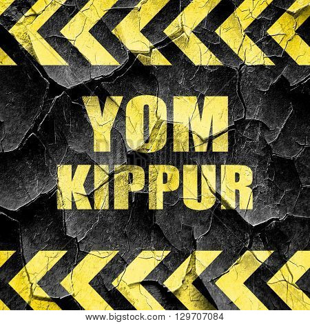 yom kippur, black and yellow rough hazard stripes