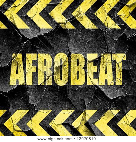 afrobeat music, black and yellow rough hazard stripes