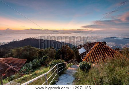 Amazing Sunrise and Sunset in Penang Hill George Town, Penang Malaysia