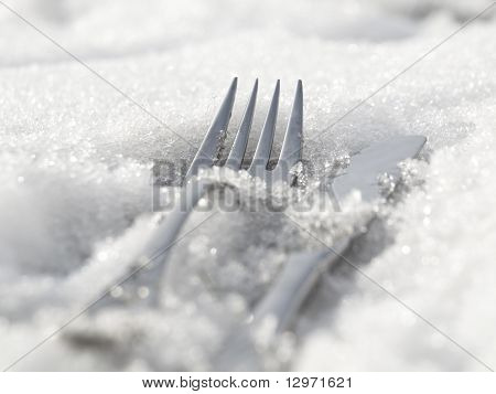 Iced Fork And Knife