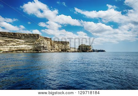 seascape beautiful views of the rocky cliffs to the sea Tarhankut Crimea