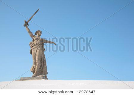volgograd monument winter poster