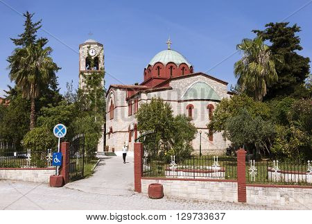 Church of the Assumption of the Blessed Virgin. Pefkohori. Greece.