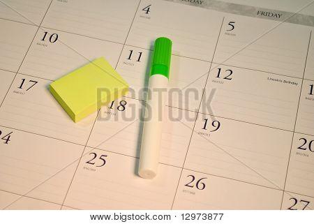 Calendar with Highlighter