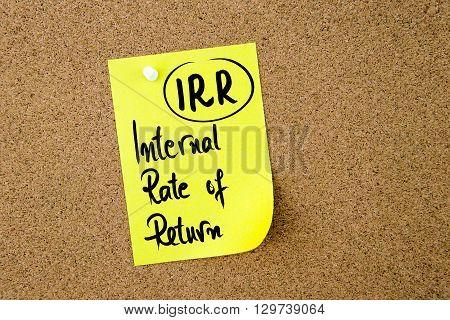 Business Acronym Irr Internal Rate Of Return