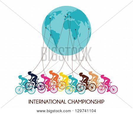 international cycling race. colorful abstract poster  design