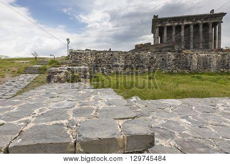 Garni, Armenia - May 02,2016 : Ancient Garni Pagan Temple, The Hellenistic Temple In Armenia