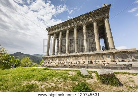 Garni ARMENIA - May 022016 : Ancient Garni pagan Temple the hellenistic temple in Armenia