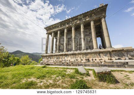 Garni ARMENIA - May 022016 : Ancient Garni pagan Temple the hellenistic temple in Armenia