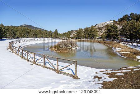 Birth of the Tajo la Fuente Garcia in the town of Frias de Albarracin Spain
