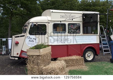 Amsterdam Netherlands-May 15 2016: Balls and glory food truck in Amsterdam