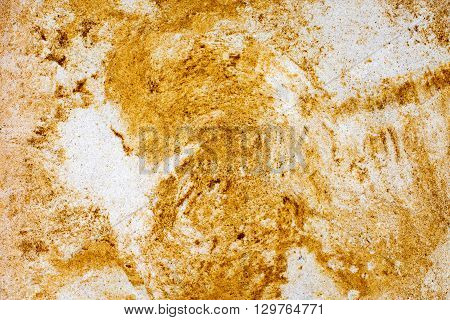 yellow sandstone wall for background or texture
