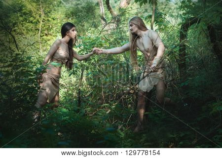 White people began to live in the forest like savages.