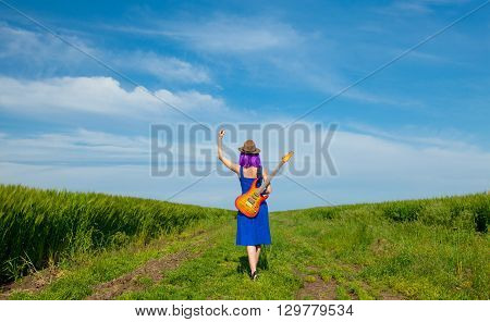 Young Woman With Guitar