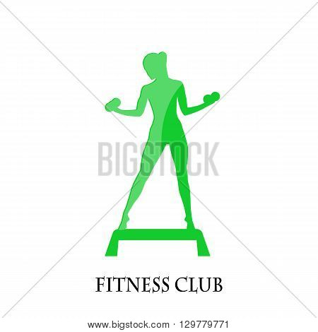 icon fitness club sport style on a white background