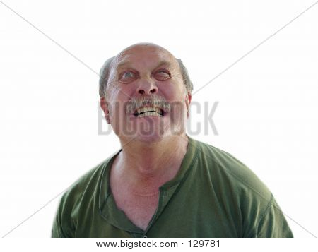 Grouchy Old Man With Surgical Scar
