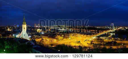 Bratislava, Slovakia evening cityscape