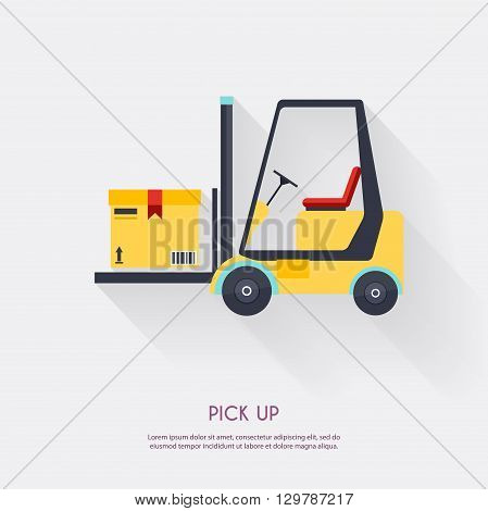 Pick Up. Warehouse Icons Logistic Blank And Transportation, Storage Vector Illustration.
