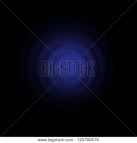 water drop. above view. dark blue abstract background