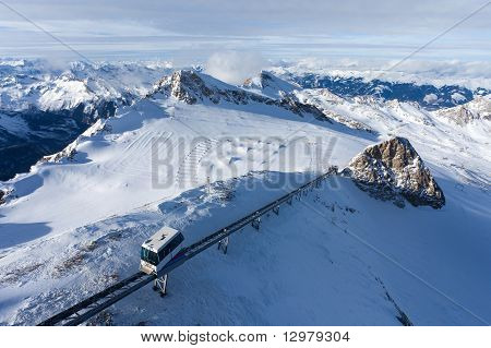 Glacier Skiing Area In Kaprun, Austria.