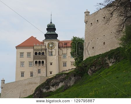 Pieskowa Ska?a castle, built by King Casimir III the Great was erected in the first half of the 14th century as part of the chain of fortified castles called Orle Gniazda (Eagles Nests)