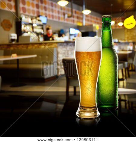 Beer In Bar Interior