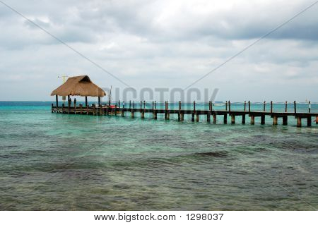 Pier In The Cozumel Harbor