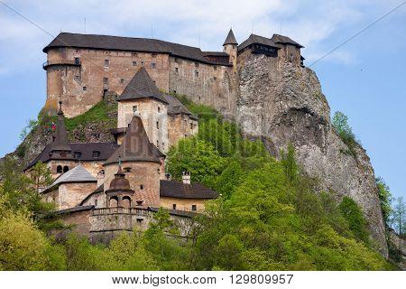The Famous Oravsky Podzamok castle in Slovakia