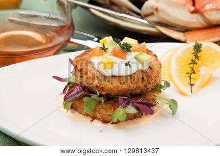 Crab Cakes Appetizer