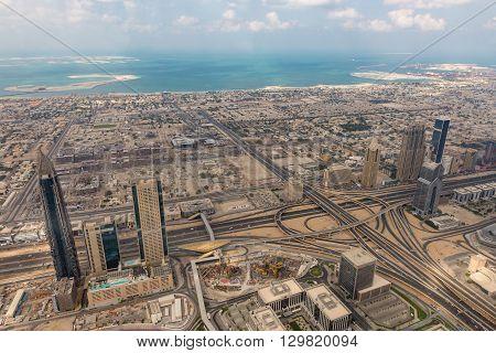 Aerial View Of Dubai (united Arab Emirates)