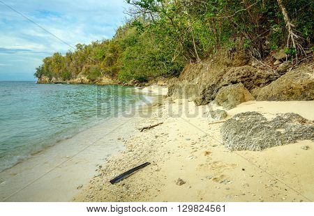 Deserted Beach On Bolilanga Island