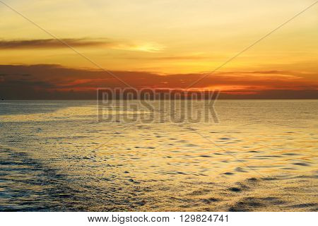 Beautiful Sunset At The Equator