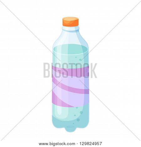 Soda bottle. Drinks and soda plastic bottle vector illustration. Beverage packaging. Bottle of soda, cola, water, beer, soft drinks. Design of bottle for drinks. Cartoon bottle blank