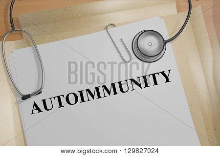 Autoimmunity Medicial Concept