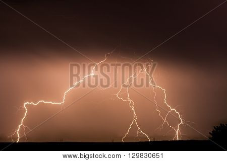 Multiple strikes against the groudn in a big storm