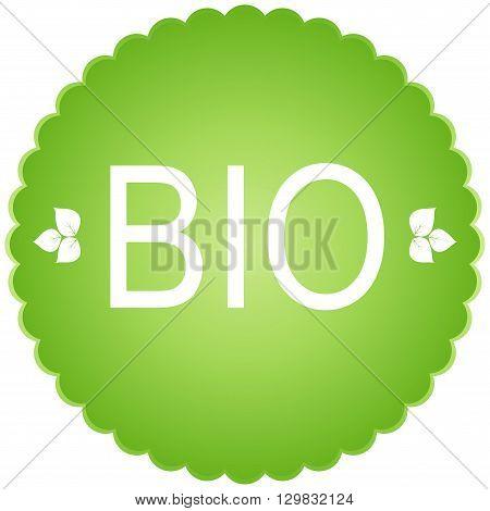 bio green Icon. bio con Sign and label