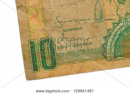 10 Gambian Dalasi Bank Note