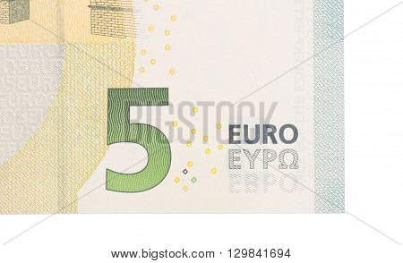 Close-up Of A 5 Euro Bank Note