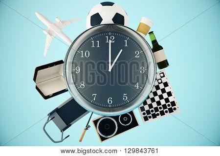 Various Items Around Clock