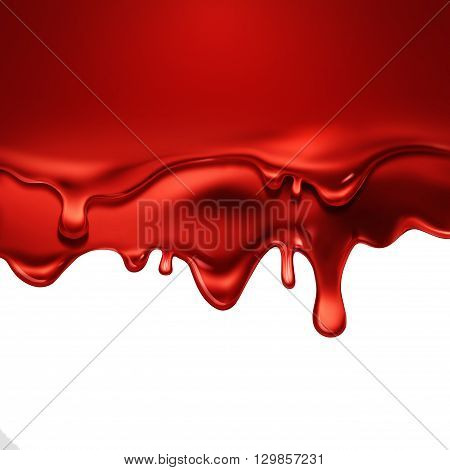 Dripping Red Blood