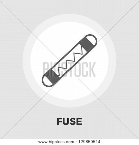 Automotive fuse icon vector. Flat icon isolated on the white background. Editable EPS file. Vector illustration.